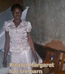 Kirabo Margret har 3 barn